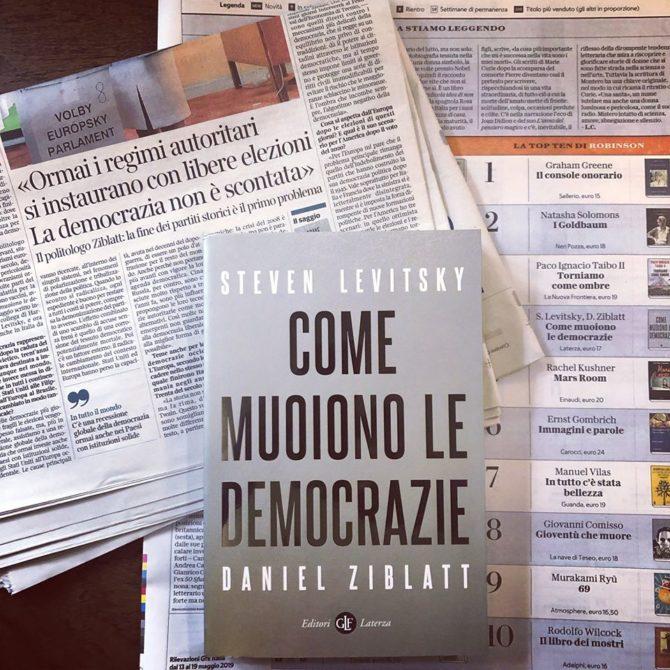 """GIOVANNI PERAZZOLI, Nota su Steven Levitsky e Daniel Ziblatt, """"Come muoiono le democrazie"""", Laterza, Roma-Bari 2019"""